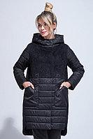Куртка утепленная, комбинированная, 40-48, черная