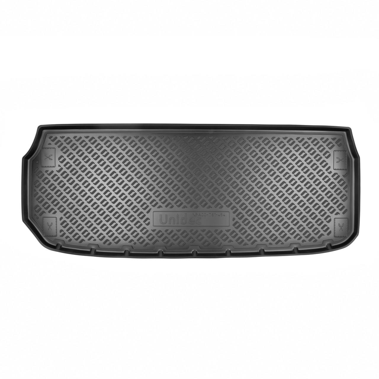 Коврик в багажник Nissan Pathfinder (R52) (2014) (разложенный 3 ряд)