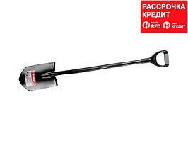 """Лопата """"АРТЕЛЬ"""" штыковая, стальной черенок, двухкомпонентная рукоятка, ЗУБР (39553)"""