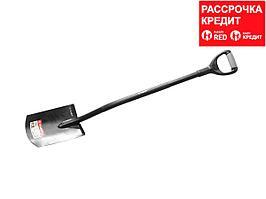 """Лопата """"АРТЕЛЬ"""" прямоугольная, стальной черенок, двухкомпонентная рукоятка, ЗУБР (39554)"""