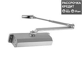 Доводчик дверной ЗУБР для дверей массой до 100 кг, цвет серебро (37910-100)