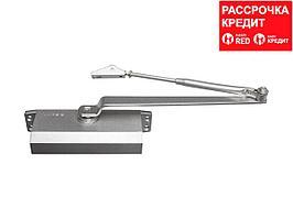 Доводчик дверной ЗУБР для дверей массой до 80 кг, цвет серебро (37910-80)
