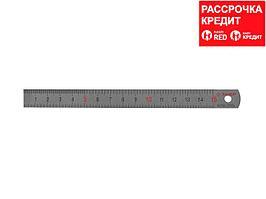 """Линейка ЗУБР """"ЭКСПЕРТ"""" нержавеющая, узкая, двусторонняя, непрерывная шкала 1/2мм, длина 0,15 м, толщина 0,5 мм (34280-0.5-015)"""