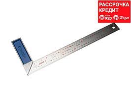 ЗУБР Профессионал 400 мм усиленный столярный угольник с нержавеющим полотном (34393-40)