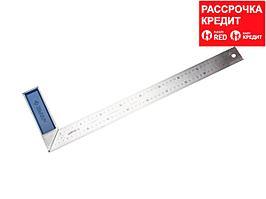 ЗУБР Профессионал 500 мм усиленный столярный угольник с нержавеющим полотном (34393-50)