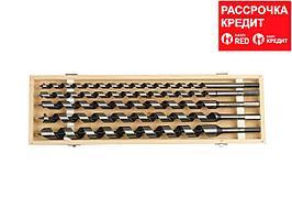 ЗУБР 5 шт, d 12-14-18-20-25 мм, набор сверл левиса по дереву, шестигранный хвостовик (2948-450-H5)
