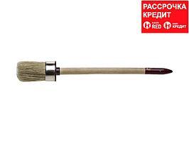 """Кисть круглая ЗУБР """"УНИВЕРСАЛ - МАСТЕР"""", светлая щетина, деревянная ручка, №8, 35мм (01501-35)"""