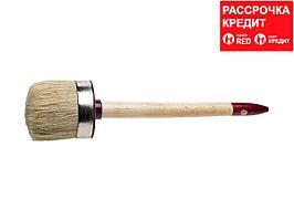 """Кисть круглая ЗУБР """"УНИВЕРСАЛ - МАСТЕР"""", светлая щетина, деревянная ручка, №12, 45мм (01501-45)"""