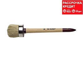"""Кисть круглая ЗУБР """"УНИВЕРСАЛ - МАСТЕР"""", светлая щетина, деревянная ручка, №14, 50мм (01501-50)"""