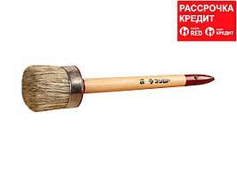 """Кисть круглая ЗУБР """"УНИВЕРСАЛ - МАСТЕР"""", светлая щетина, деревянная ручка, №16, 55мм (01501-55)"""