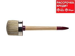 """Кисть круглая ЗУБР """"УНИВЕРСАЛ - МАСТЕР"""", светлая щетина, деревянная ручка, №22, 70мм (01501-70)"""