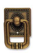 Ручка-кольцо, *Art Nouveau* 33х51мм, латунь Флоренсе., квадр. накл., винт