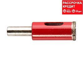 Сверло алмазное трубчатое по кафелю и стеклу, d=14 мм, зерно Р 60, ЗУБР Профессионал 29850-14 (29850-14)