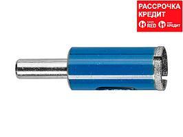 Сверло алмазное трубчатое по стеклу и кафелю, d=14 мм, зерно Р 100, ЗУБР Профессионал 29860-14 (29860-14)