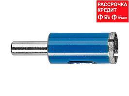 Сверло алмазное трубчатое по стеклу и кафелю, d=16 мм, зерно Р 100, ЗУБР Профессионал 29860-16 (29860-16)