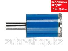 Сверло алмазное трубчатое по стеклу и кафелю, d=22 мм, зерно Р 100, ЗУБР Профессионал 29860-22 (29860-22)