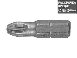 """Биты ЗУБР """"МАСТЕР"""" кованые, хромомолибденовая сталь, тип хвостовика C 1/4"""", PZ3, 25мм, 2шт (26003-3-25-2)"""