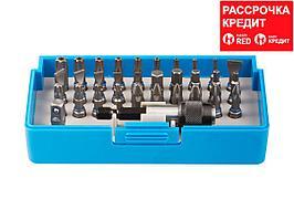 Набор ЗУБР: Биты из хромомолибденовой стали, 31 бита - 25мм, адаптер, 32 предмета (26091-H32)