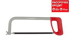 Ножовка по металлу ЗУБР 15761_z01, МАСТЕР, металлическая рамка, пластмассовая рукоятка, натяжение 60 кг, 300 мм