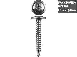Саморезы ПШМ-С со сверлом для листового металла, 25 х 4.2 мм, 400 шт, ЗУБР (4-300211-42-025)