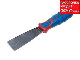 Шпательная лопатка ЗУБР с 2-компонент.усил.ручкой, профилированное нержав.полотно, 40 мм (10055-040)