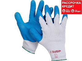 ЗУБР СУПЕРПРОЧНЫЕ, размер L, рельефные особопрочные противоскользящие перчатки (11260-L)