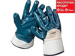 """Перчатки ЗУБР """"МАСТЕР"""" рабочие с нитриловым покрытием ладони, размер M (8) (11271-M)"""