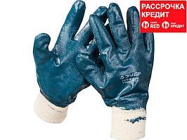 Перчатки ЗУБР рабочие с манжетой, с полным нитриловым покрытием, размер M (8) (11272-M)