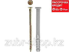 Дюбель-гвоздь полипропиленовый, цилиндрический бортик, 6 x 40 мм, 2000 шт, ЗУБР (4-301360-06-040)