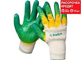 ЗУБР х2 ЗАЩИТА, размер L-XL, перчатки с двойным латексным обливом (11459-XL)