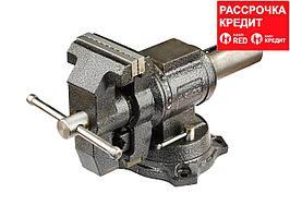 ЗУБР ЭКСПЕРТ-3D, 100 мм, многофункциональные слесарные тиски с поворотом в двух плоскостях на 360° (32712-100)