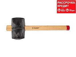 ЗУБР 900г резиновая Чёрная киянка с деревянной рукояткой (2050-90_z01)