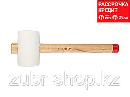 ЗУБР МАСТЕР 340г резиновая Белая киянка с деревянной рукояткой (20511-340_z01)