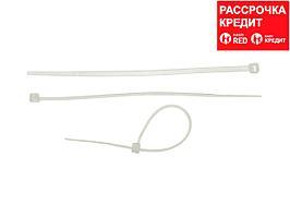 Кабельные стяжки белые КС-Б2, 2.5 х 100 мм, 50 шт, нейлоновые, ЗУБР Профессионал (4-309017-25-100)