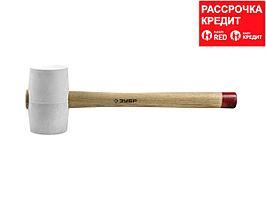 ЗУБР МАСТЕР 450г резиновая Белая киянка с деревянной рукояткой (20511-450_z01)