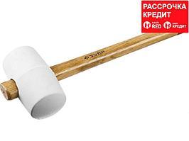 ЗУБР МАСТЕР 680г резиновая Белая киянка с деревянной рукояткой (20511-680_z01)