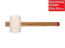 ЗУБР МАСТЕР 900г резиновая Белая киянка с деревянной рукояткой (20511-900_z01)