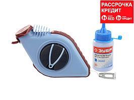 Нить ЗУБР разметочная для строительных работ в наборе с синей краской, 30м (4-06375-H2)