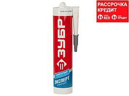 Герметик силиконовый ЗУБР прозрачный, санитарный, для помещений с повышенной влажностью, 280мл (41235-2)
