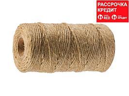 Шпагат ЗУБР строительно-отделочный, джутовый, 60м (50105-060)