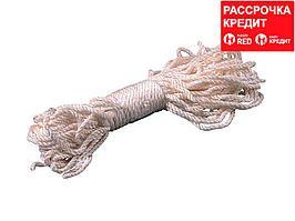 Веревка ЗУБР капроновая, d=3,1 мм, 20 м, 150 кгс, 5 ктекс (50203)