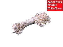 Веревка ЗУБР капроновая, d=4,0 мм, 20 м, 180 кгс, 6,5 ктекс (50204)