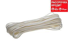 Фал ЗУБР капроновый, d=4,0 мм, 20 м, 380 кгс, 11,5 ктекс (50210-04)
