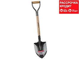 """Лопата """"БЕРКУТ"""" автомобильная, деревянный черенок, металлическая рукоятка, ЗУБР (4-39506_z01)"""