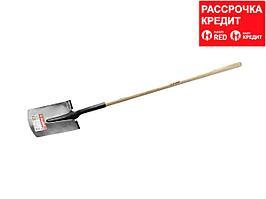 """Лопата """"ФАВОРИТ"""" прямоугольная, деревянный черенок, ЗУБР (4-39511_z01)"""