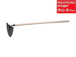 ЗУБР 170x180x1200 мм, мотыга с профилем лепесток, с деревянным черенком (4-39599)