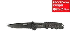 "Нож ЗУБР ""ПРЕМИУМ"" ДИВЕРСАНТ складной тактический, усилен. метал. рукоятка, усилен. лезвие для рубки 6ммх120мм, 265мм (47717)"