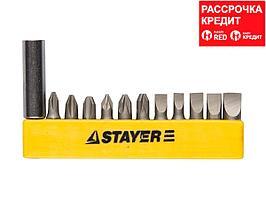 "Набор STAYER Биты ""MASTER"" с магнитным держателем,12 предметов (2609-H12_z01)"