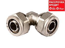 Уголок ЗУБР соединительный, цанга-цанга, 20х20х2,0, никель (51408-20)