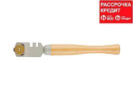 """Стеклорез STAYER """"MASTER"""", деревянная ручка, 3 ролика (33613_z01)"""